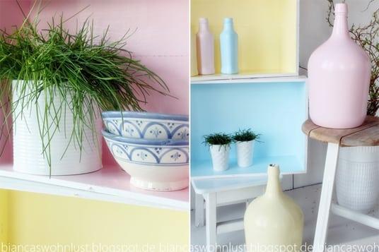 DIY Regal in Pastell