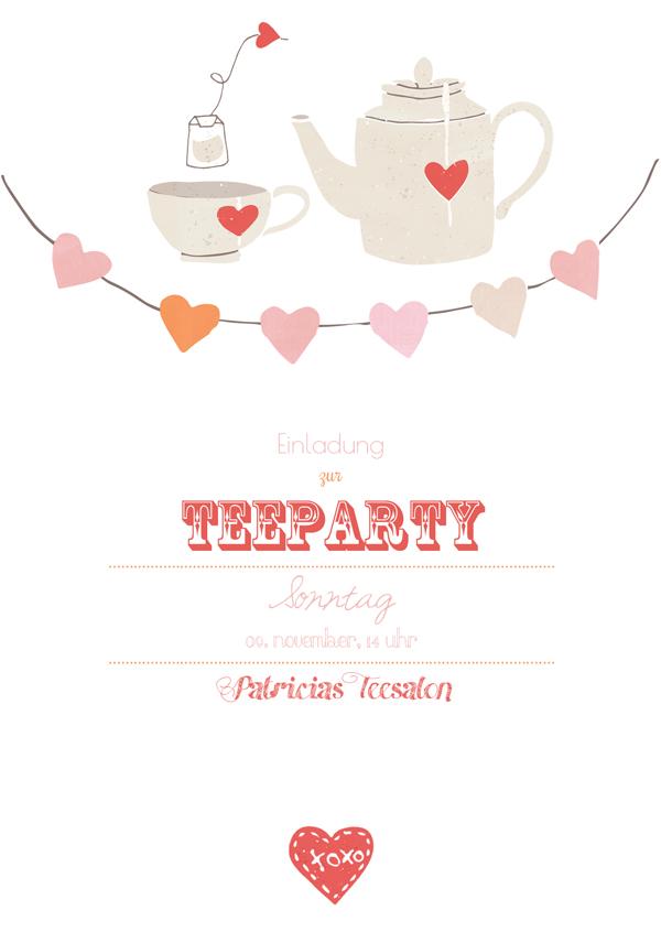 Einladung Teeparty