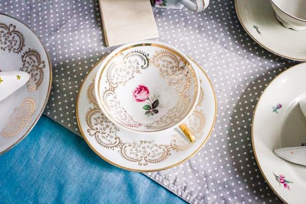 Sammeltassen Teeparty Geschirr