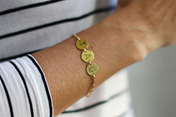 DIY Armband Initialen