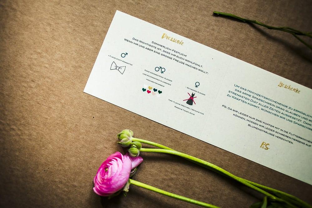Hochzeitseinladung mit Illustration