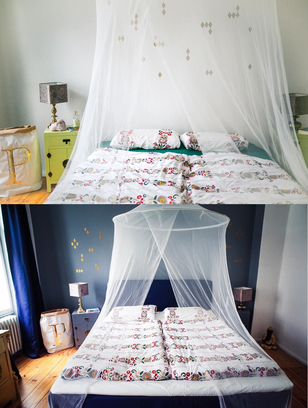 Schlafzimmer vorher nachher