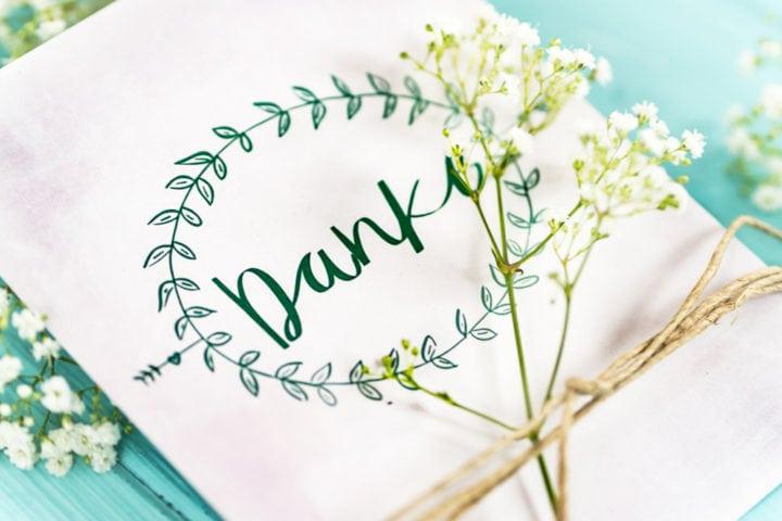 Dankeskarte Kranz Vorlage Download Gratis