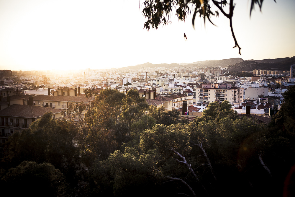 Sonnenuntergang in Málaga