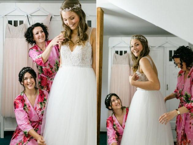 Brautjungfer Kimono Hochzeit