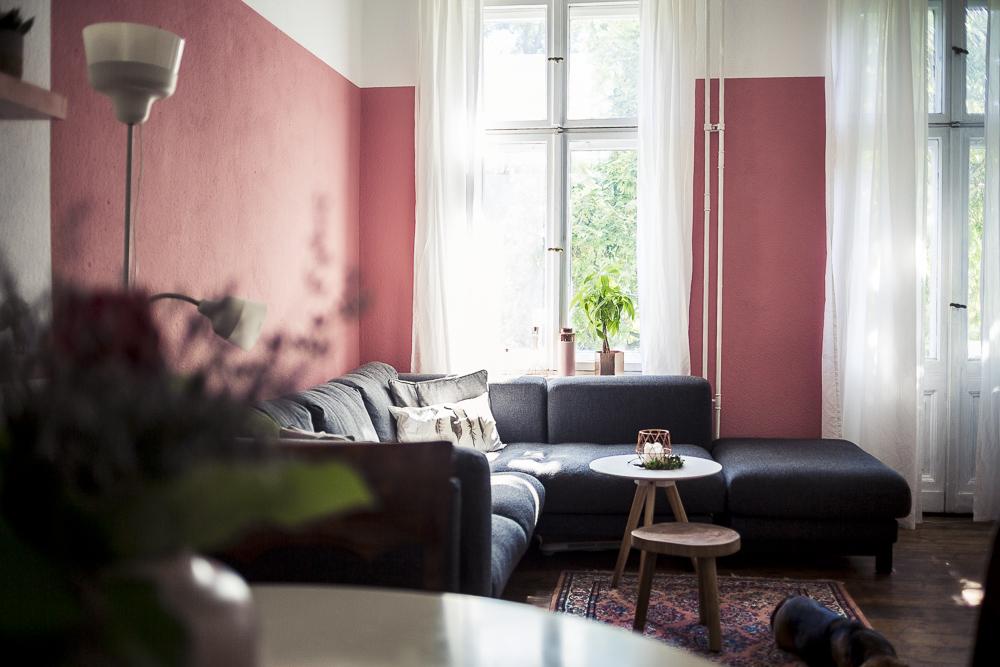 Rosa wande wohnzimmer  DIY Regal in Kupfer und andere Neuigkeiten aus unserem Wohnzimmer