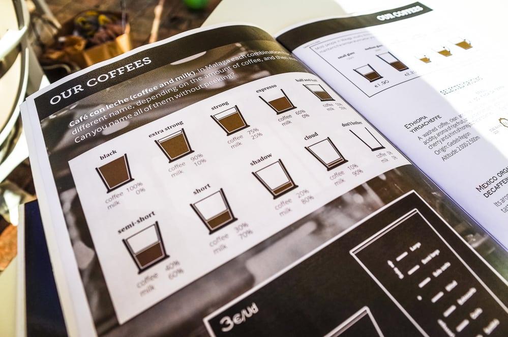 Málaga Kaffee trinken
