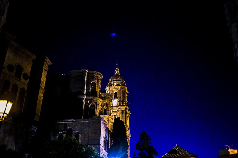 Málaga nachts