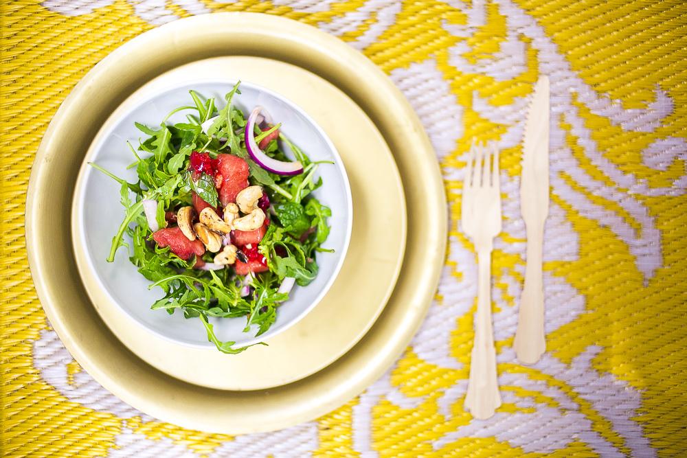 Veganer Wassermelonensalat
