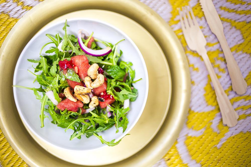 Veganer Wassermelonensalat Rezepte für heiße Sommertage