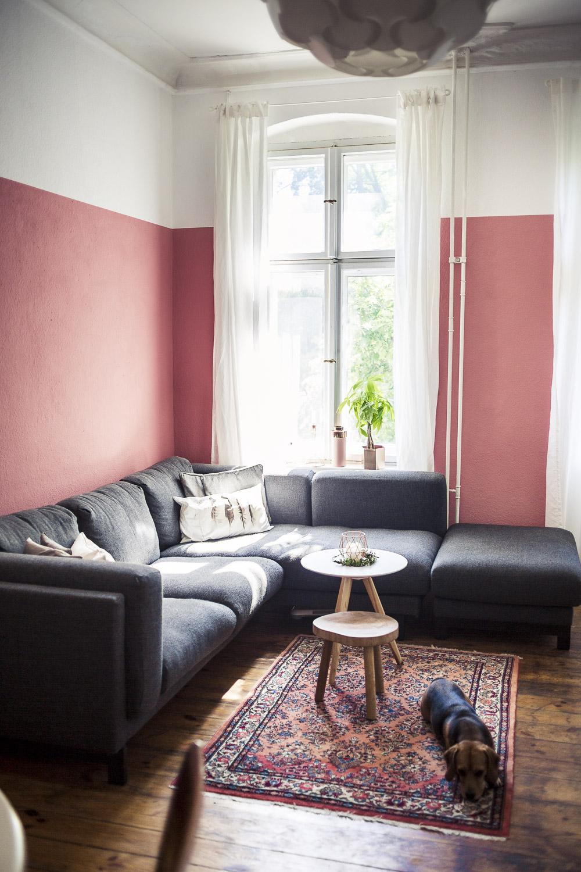 Diy Regal In Kupfer Und Andere Neuigkeiten Aus Unserem Wohnzimmer Wohnzimmer Rosa Streichen