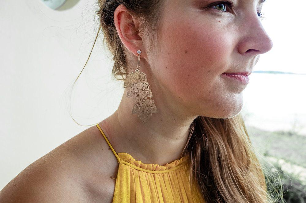 Kleid als Hochzeitsgast in Gelb