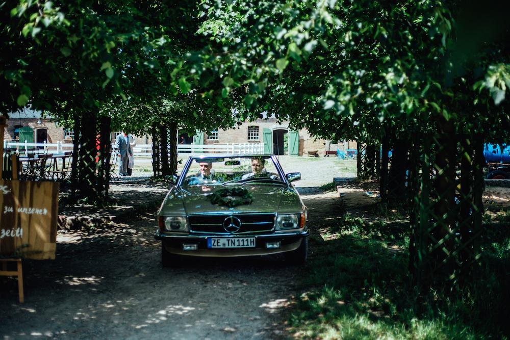 Cabrio Gold Hochzeit