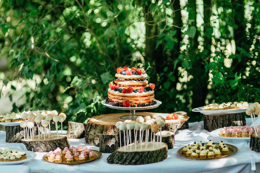 Baumstammscheiben Hochzeit