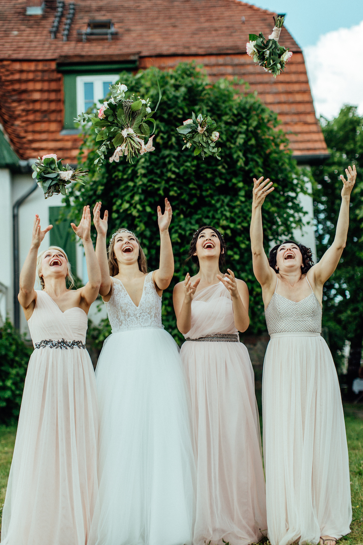 Brautjungfernkleider Rosa Tüll Asos