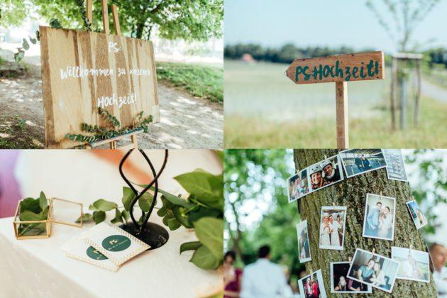 DIY Hochzeitsdeko Gold Scheune Boho