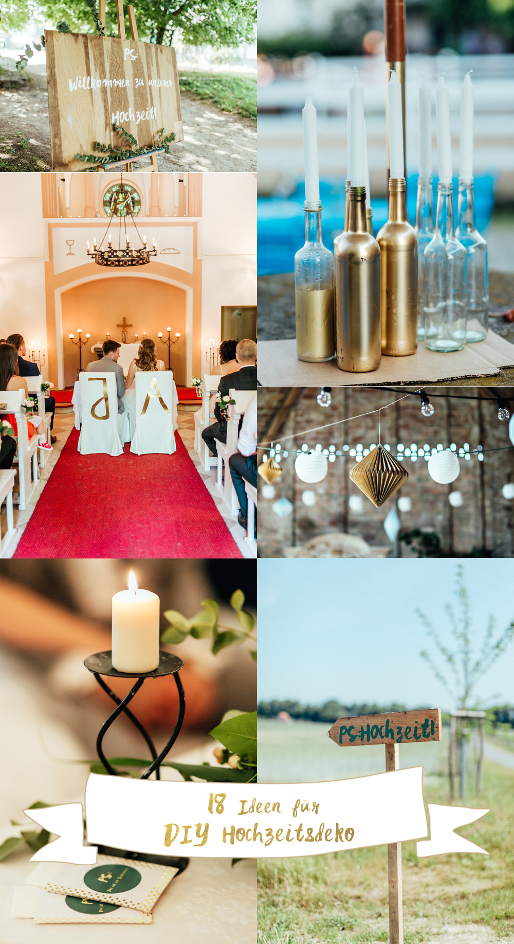DIY Hochzeitsdeko Ideen