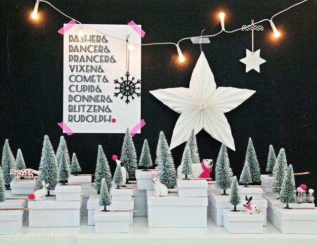 DIY Adventskalender mit Winterwunderland