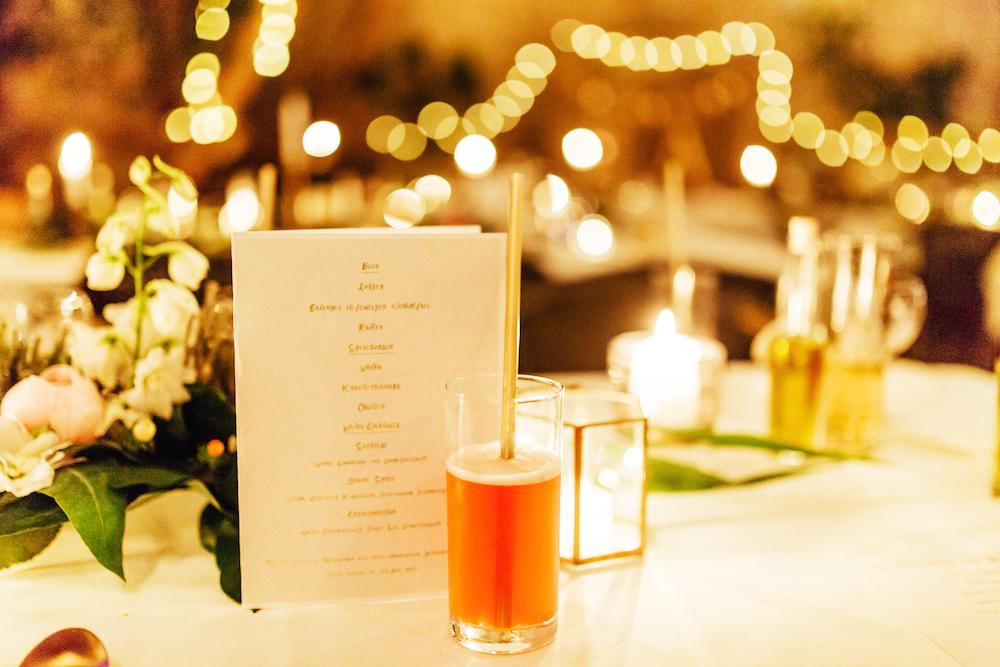 Getränke für die Hochzeit