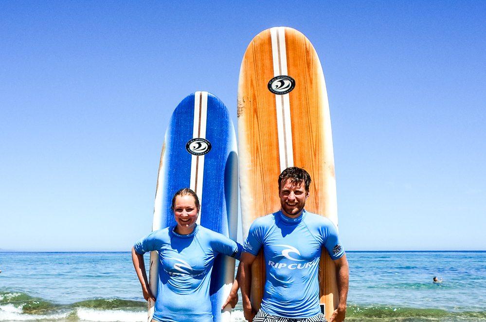 Surfkurs auf Sardinien