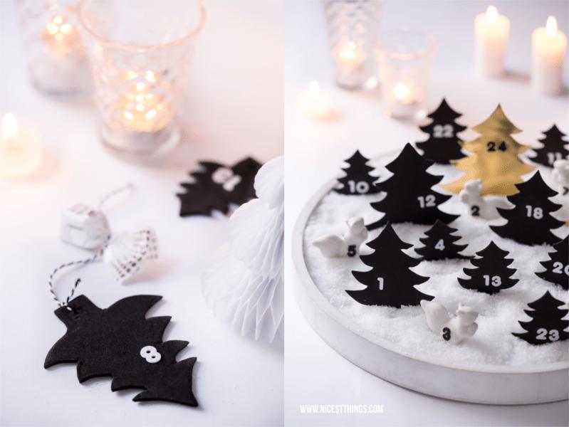 DIY Adventskalender mit Kunstschnee