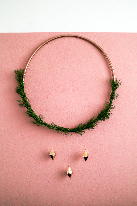 Hula Hopp Weihnachtsdeko DIY Weihnachtsdeko mit Kupfer