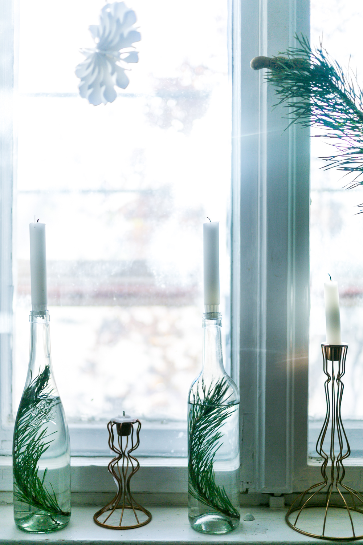 DIY Weihnachtsdeko Flaschen