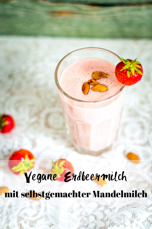 vegane Erdbeermilch