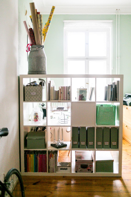 Arbeitszimmer mintgrün