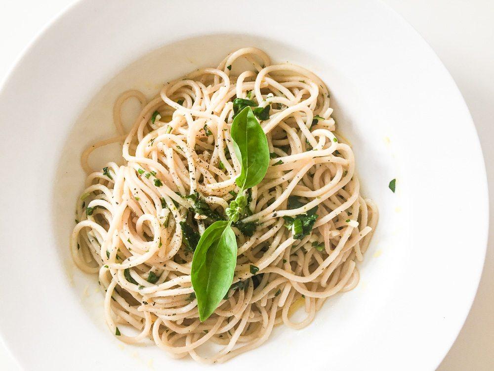 Spaghetti mit Rapsöl
