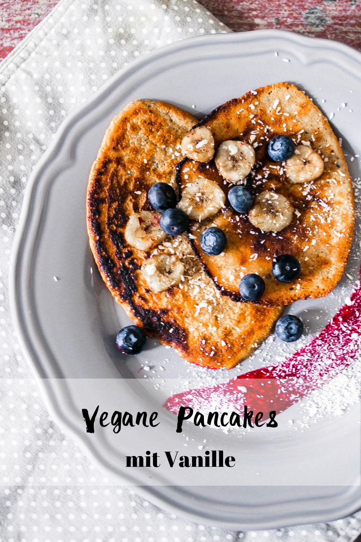 Vegane Pancakes Vanille