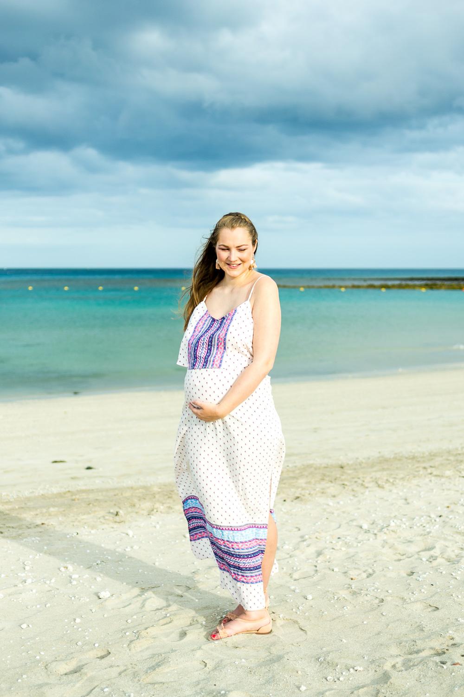 Maxikleid Babybauch Schwangerschaft Umstandsmaxikleid