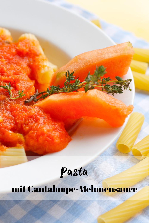 Pasta mit Cantaloupe-Melonensauce