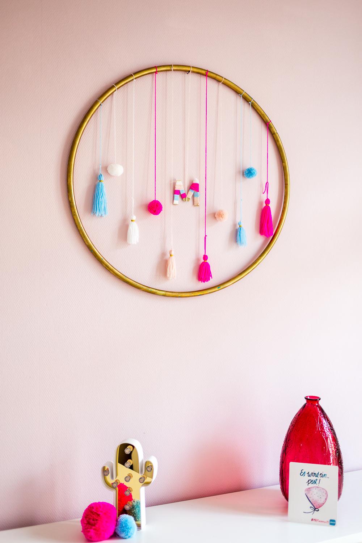 Schöner Wohnen Farbe Architects Finest Test Lingotto Rosa Kinderzimmer DIY Hula Hoop Quasten Pom Poms