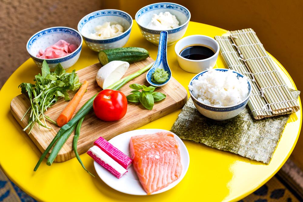 Maki Sushi selber machen Zutaten