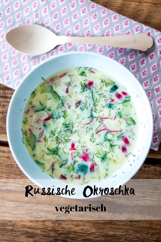 Russische Okroschka vegetarisch Rezept ohne Fleisch