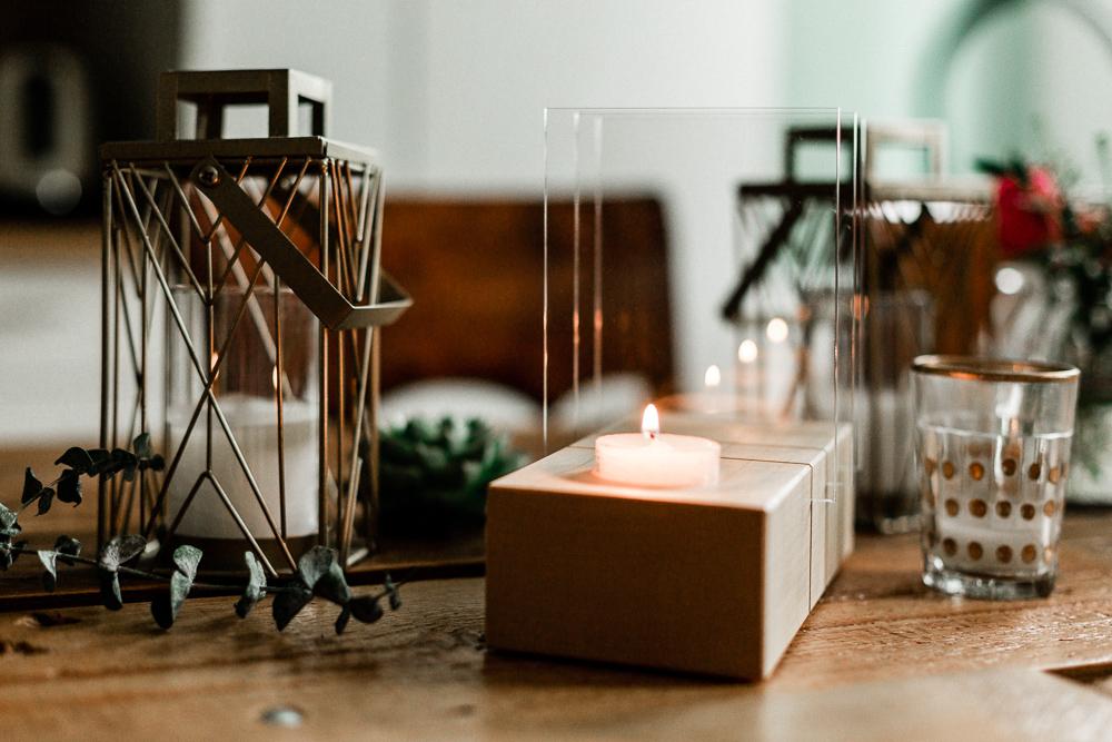 Minimalistische Adventskranz Holz Lumenqi