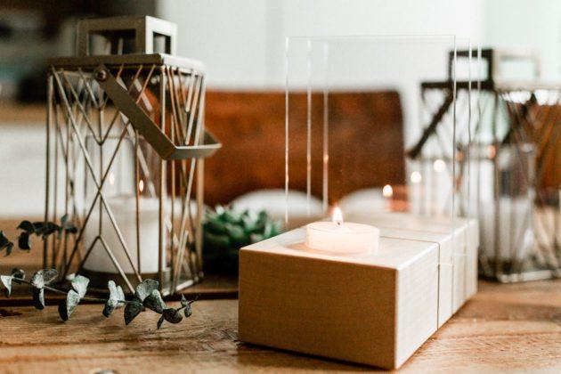 Minimalistischer Adventskranz Holz Lumenqi