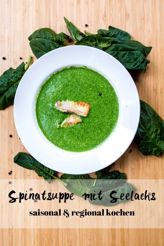 Spinatsuppe mit Seelachs