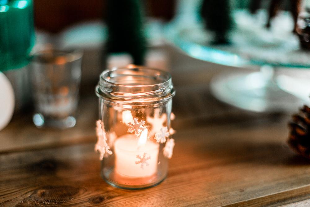 3 DIY Weihnachtsdeko-Ideen mit Tempo Taschentüchern Marmeladenglas Teelicht