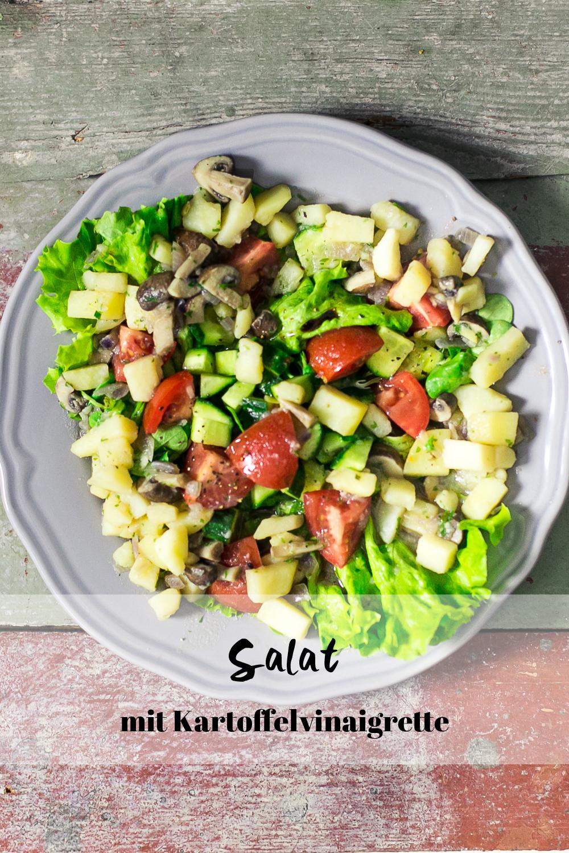Salat mit Kartoffelvinaigrette