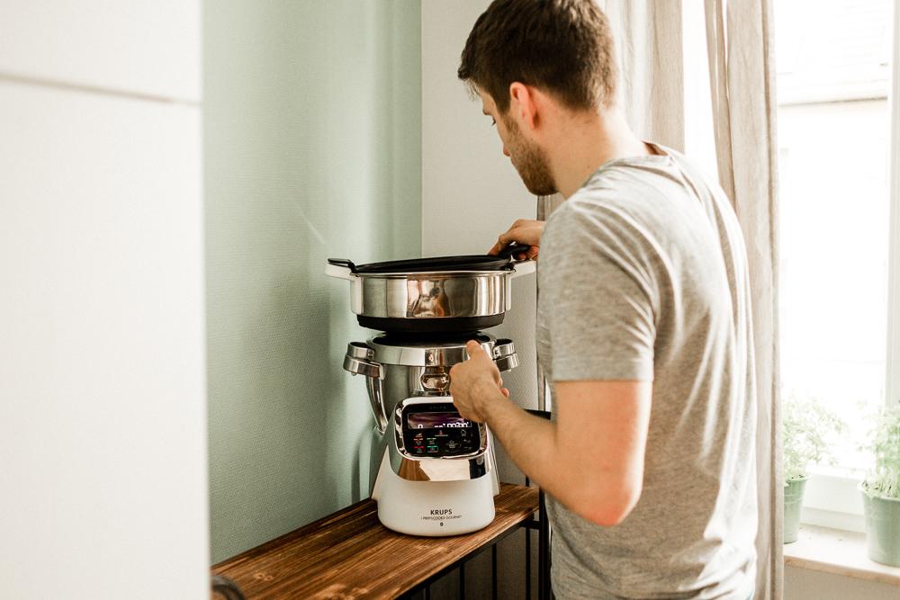 Beikosteinführung der Krups i-Prep&Cook Gourmet XL