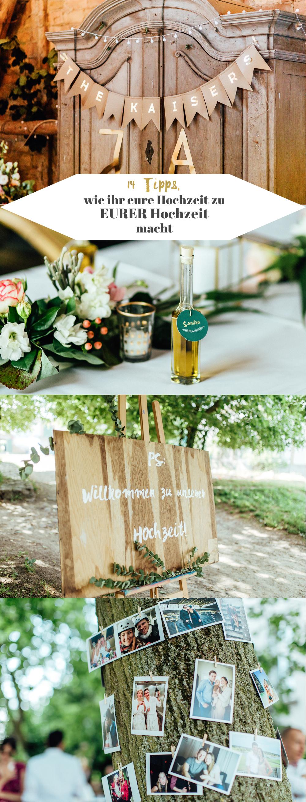 14 Tipps, wie ihr eure Hochzeit persönlich gestalten könnt