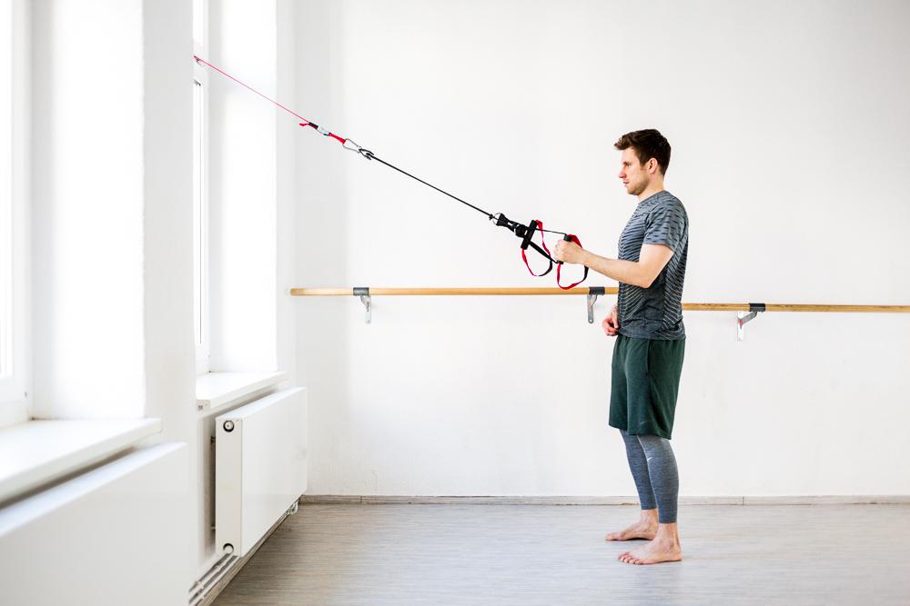Mit dem Schlingentrainer den Ruecken trainieren