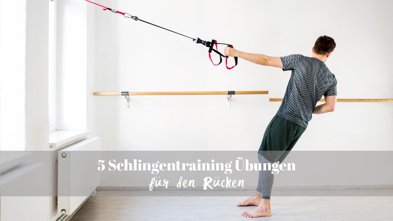 Schlingentraining Übungen Rücken Pin