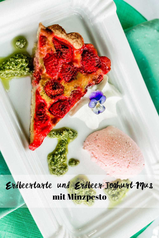 Erdbeertarte und Erdbeer-Joghurt Mus