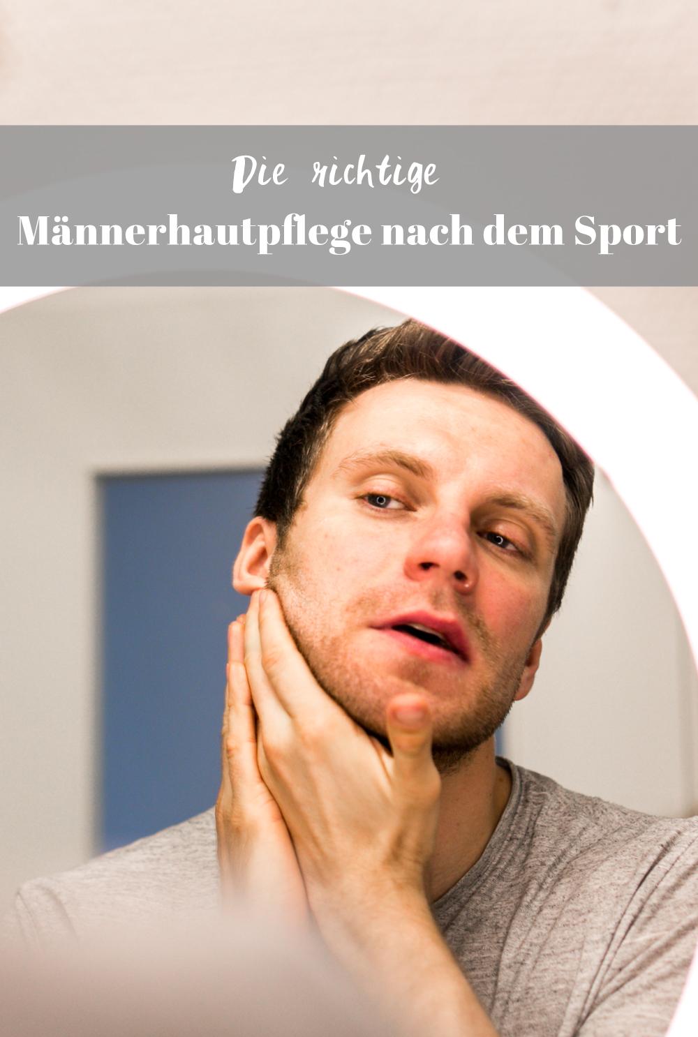Männerhaut nach dem Sport pflegen i+m berlin