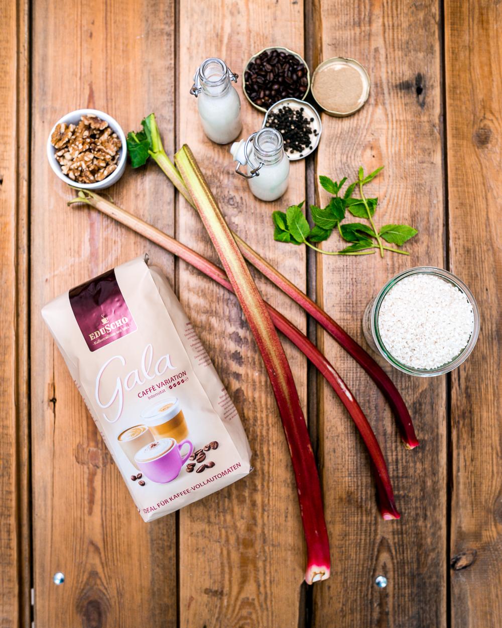 Booster für unterwegs Kaffee Milchreis Rezept Gala von Eduscho