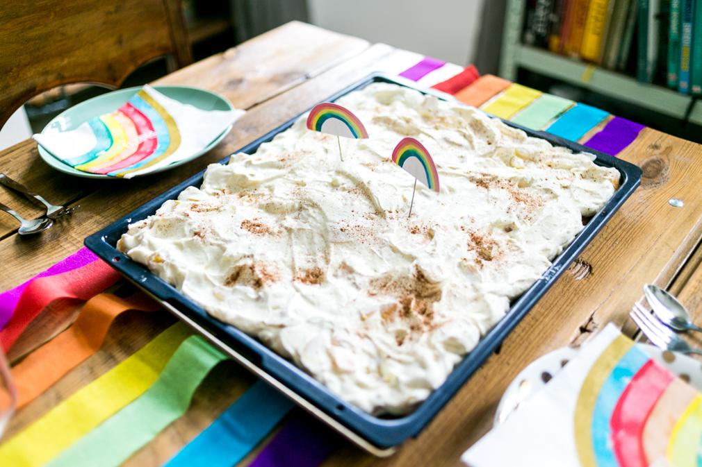 Regenbogenparty Kuchen