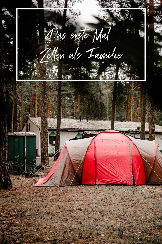 Das erste Mal Zelten als Familie